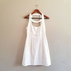 NEW Nanette Lepore Cream Eyelet Dress Open Back
